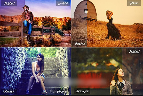 Пресет 30 Photoshop Actions для lightroom