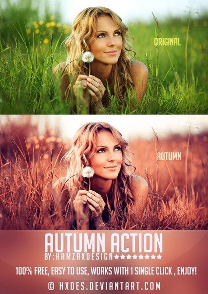 Пресет Autumn Photoshop Action для lightroom