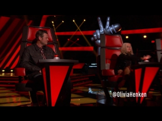 Team Xtina Size Each Other Up - The Voice 2013