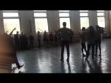 флеш моб в стандартной Росийской школе