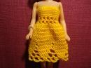 Одежда для кукол своими руками. Платье-цветок для Барби. Barbie doll dress