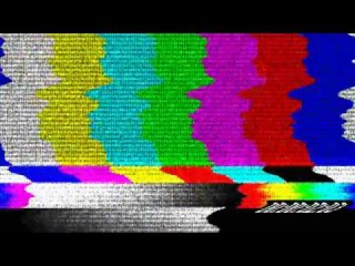 TV Color Bars - Distorted with Static and Timecode