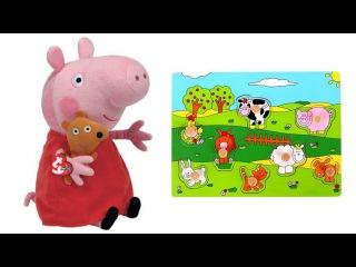 Peppa Wutz und die Tiere vom Bauernhof | Lernvideo für Kinder
