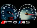 Audi RS6 vs BMW M5 F10 0-300 Acceleration Onboard Autobahn V8 V10 Sound Test Comparison A6 C6