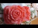 Карвинг по мылу роза резная