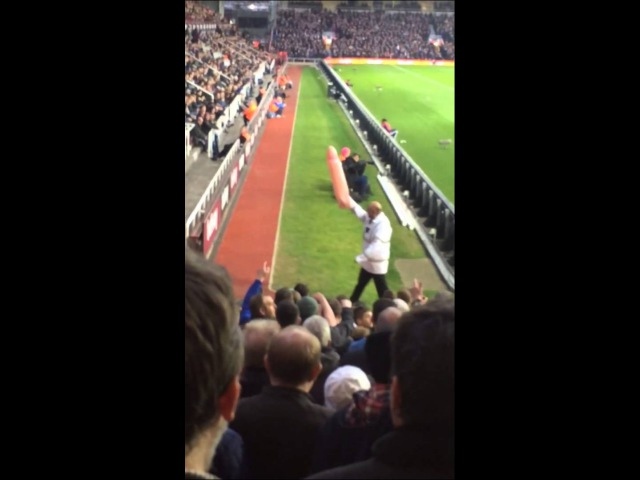 Sunderland fans with inflatable penis at West Ham