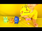 Play Doh Foam Clay Surprise Eggs with Toys  Плей До яйца монстрики с сюрпризами