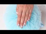 Градиентный дизайн ногтей с точками - маникюр гель лак - уроки дизайна Донецк
