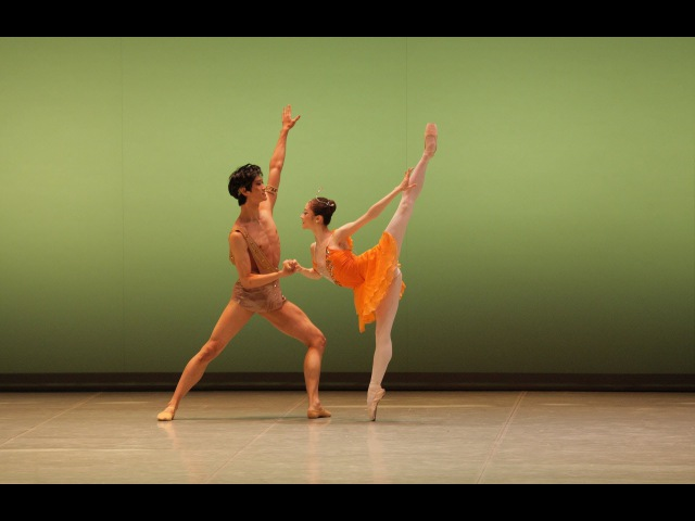 Па де де Дианы и Актеона из балета Эсмеральда