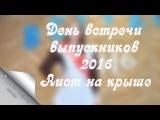 День встречи выпускников 2016. Аист на крыше.