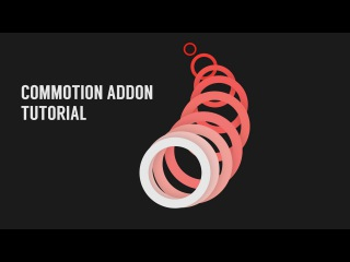 Simple motiongraphics with Commotion add-on
