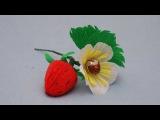Клубника из конфет. Букет из конфет. DIY strawberry of sweets