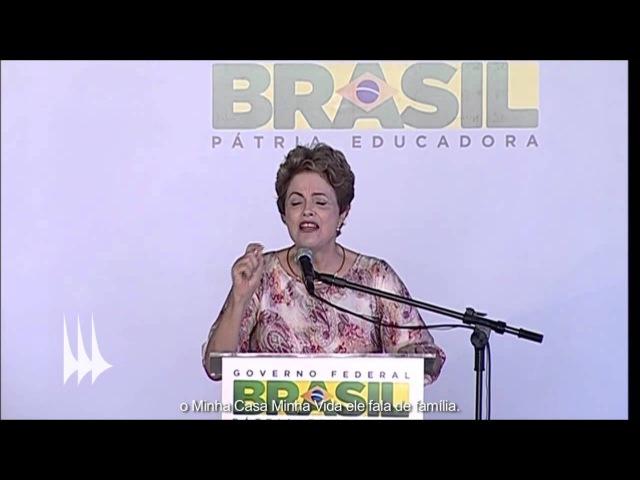Dilma fala do pai, da mãe e do tijolo