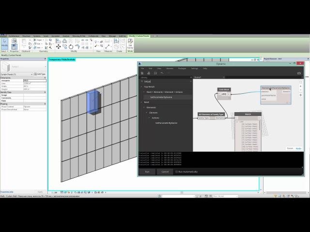 Arc brains Dynamo визуальное программирование Часть 7 Случайная установка материала на панелях