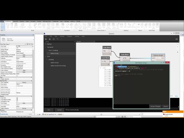Arc brains Dynamo визуальное программирование Часть 8 Начало работы с Python