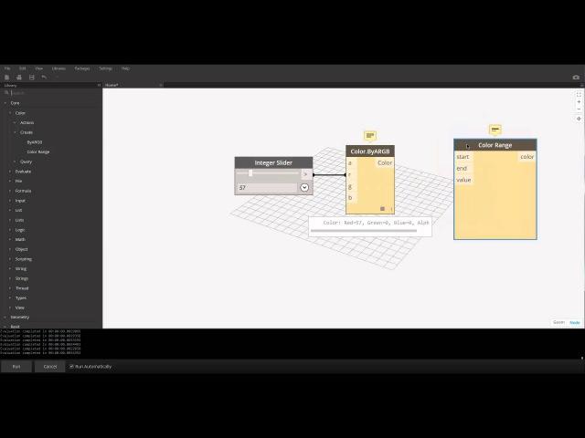 Arc brains Dynamo визуальное программирование Часть 3 Библиотека нодов