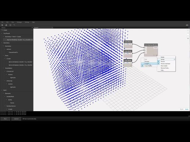Arc brains Dynamo визуальное программирование Часть 11 Обработка нодами массивов данных