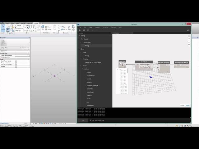 Arc brains Dynamo визуальное программирование Часть 5 DesignScript и ноды