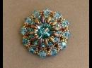 Sidonia's handmade jewelry Superduo Lotus flower pendant