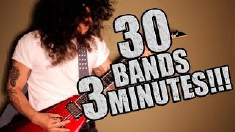 30 ROCK SONGS in 3 minutes
