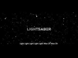 Exo lightsaber (光剑) (exo star wars collaboration project)