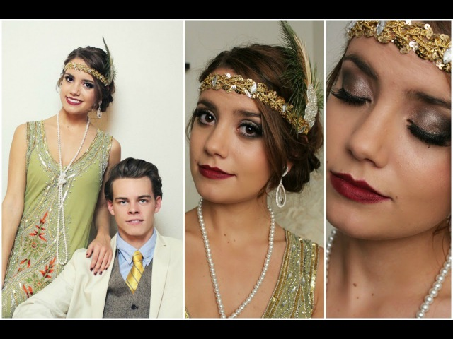 Flapper|Daisy Buchanan Gatsby Halloween Tutorial! (Hair,MakeupOutfit)