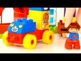 Лего мультики: Едем в деревню! Животные для детей - Мультики про животных. Лего дупло.