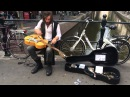 Jack Broadbent amazing busker in the Amsterdam Red Light district 1 2