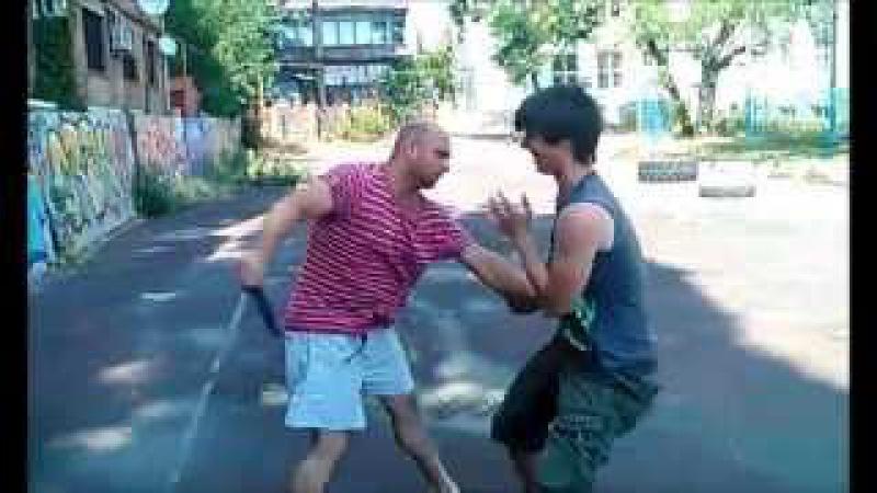 Тренировка школы Казачьего ножевого боя г Шахты