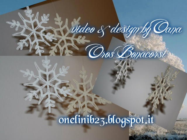 Crochet snowflake by Oana