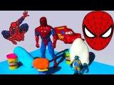 Спайдермен Бэтмен Черепашки ниндзя Яйца сюрприз ПлэйДо Play-Doh тесто игрушки
