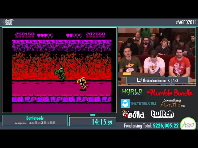 AGDQ 2015 Battletoads Co-Up Speed Run in 0:30:42 by jc583 and TheMexicanRunner AGDQ2015