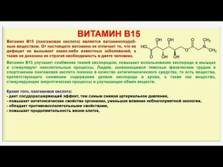 № 200. Органическая химия. Тема 28. Витамины. Часть 18. Витамин В15