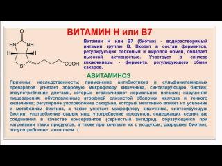 № 194. Органическая химия. Тема 28. Витамины. Часть 12. Витамин B7-Н