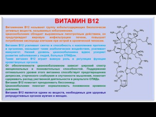 № 198. Органическая химия. Тема 28. Витамины. Часть 16. Витамин В12