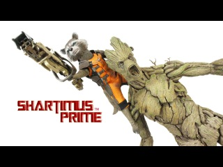 Hot Toys Rocket and Groot Guardians of the Galaxy Movie Masterpiece 1:6 Scale Collectible Action Fig