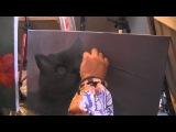 Видеоурок Сахарова Как научиться рисовать кота, живопись для начинающих, уроки рисования