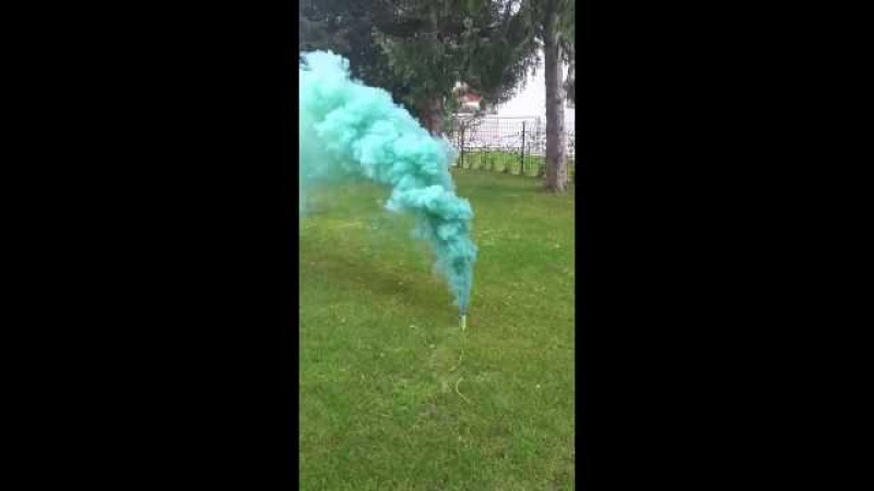 Smoke Fountain Green Test Цветной дым Севастополь 79787834893
