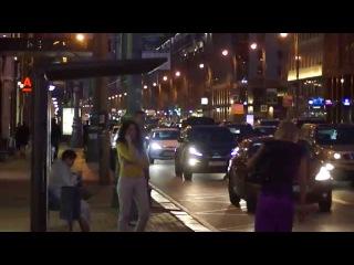 Вечерняя Тверская Ямская - мегаполис Москва