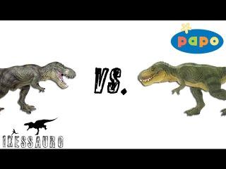 Comparação T.rex Papo Original vs. T.rex Papo Pirata