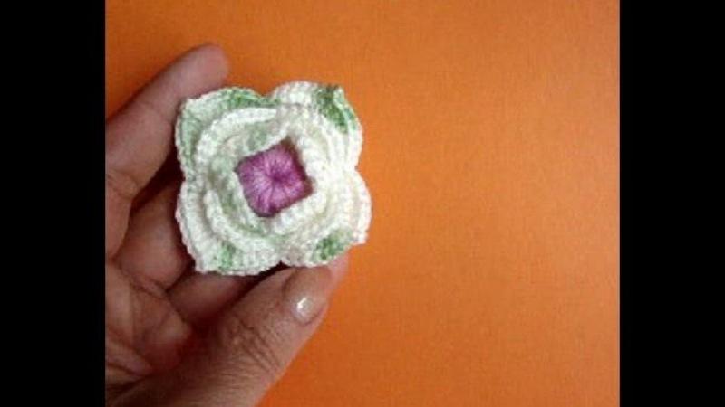 Как вязать цветок Урок 49 Сrochet flower pattern - lesson 49