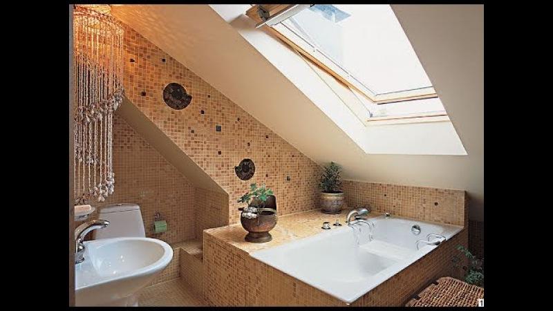 Дизайн мансардной ванны фото