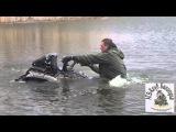 Yamaha Grizzly 700 floats on water and stunt ..АТВ Клуб Белогорье (Месим грязь) часть 2