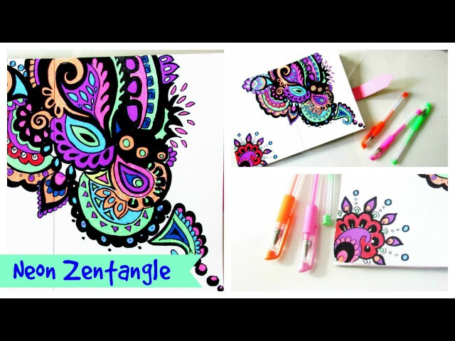 Drawing Zentangle Neon ZenDoodle