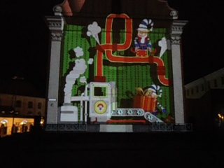 3D Дед Мороз На одной из стен г. Минска