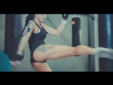 Beautiful Fitness Girls Doing Exercise, Sexy Motivational Workout in yoga pants at The Gym
