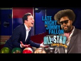 JIMMY FALLON &amp QUESTLOVE vs NEIL DEGRASSE TYSON &amp Nerdist All Star Celebrity Bowling