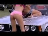Эротическая авто мойка BMW и секси девушки