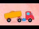 Синий трактор. Детская песенка, развивающий мультик про машинки и животных. Учим ЛЕВО и ПРАВО