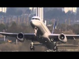 Опасные моменты во время посадки и взлета самолетов при сильном боковом ветре